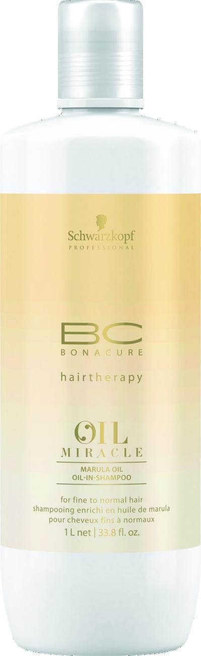 SCHWARZKOPF PROFESSIONAL Шампунь для тонких волос / ВC Oil Miracle 1000 мл schwarzkopf bc oil miracle brazilnut oil in shampoo шампунь с маслом бразильского ореха 1000 мл