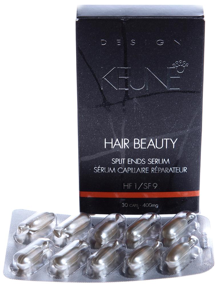 KEUNE Сыворотка Красота Волос / HAIRBEAUTY 30штАмпулы<br>Концентрированная сыворотка, предназначенная восстановления поврежденных волос и секущихся кончиков. Сыворотка &amp;laquo;Красота волос&amp;raquo; является самой концентрированной сывороткой для секущихся кончиков, которая сейчас представлена на рынке. Сыворотка является эффективной и очень густой и поэтому упаковывается в капсулы. Одной капсулы достаточно для одной обработки. Обеспечивает мгновенный результат. Одна упаковка содержит 3 пластины, всего 30 капсул. Высоко концентрированная и поэтому очень эффективная. Более густая, чем другие сыворотки. Легко дозируемая. Нежирная.  Применение: Одной капсулы достаточно для одной обработки волос. Развинтить капсулу и выдавить содержимое на кончики пальцев. Распределить сыворотку на пальцы. Массировать в волосы и их концы. Продолжать выполнять до тех пор, пока не исчезнет маслянистость с пальцев. Теперь сыворотка полностью впиталась волосами. Не ополаскивать. Капсулы предназначены только для внешнего использования.<br><br>Назначение: Секущиеся кончики