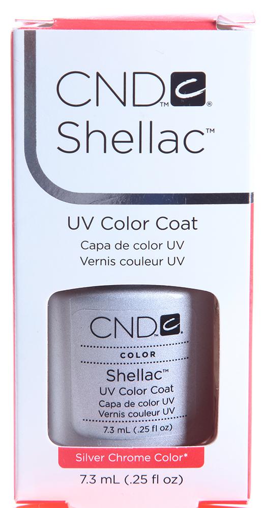 CND 032 покрытие гелевое Silver Chrome / SHELLAC 7,3млГель-лаки<br>Цвет:Silver chrome Shellac &amp;ndash; первый гибрид лака и геля, сочетающий в себе самые лучшие свойства профессиональных лаков для ногтей (простота наложения, яркий блеск, богатство цвета) и современных моделирующих гелей (отсутствие запаха, носибельность, нестираемость). Носится как гель, выглядит как лак, снимается за считанные минуты, укрепляет и защищает ногти, гипоаллергенный, создан по формуле 3 FREE, не содержит дибутилфталата, толуола, формальдегида и его смол – все это Shellac! Преимущества: 14 дней – время носки маникюра 2 минуты – время высыхания покрытия Зеркальный блеск и идеальная гладкость маникюра Не скалывается, не смазывается, не трескается Каждое покрытие представлено в непрозрачном флаконе, цвет которого абсолютно идентичен оттенку самого продукта. Флакон не скользит в руке, что делает процедуру невероятно легкой и приятной, а удобная кисточка позволяет нанести средство идеально ровно. Пошаговая инструкция.<br><br>Цвет: Серые<br>Виды лака: Глянцевые
