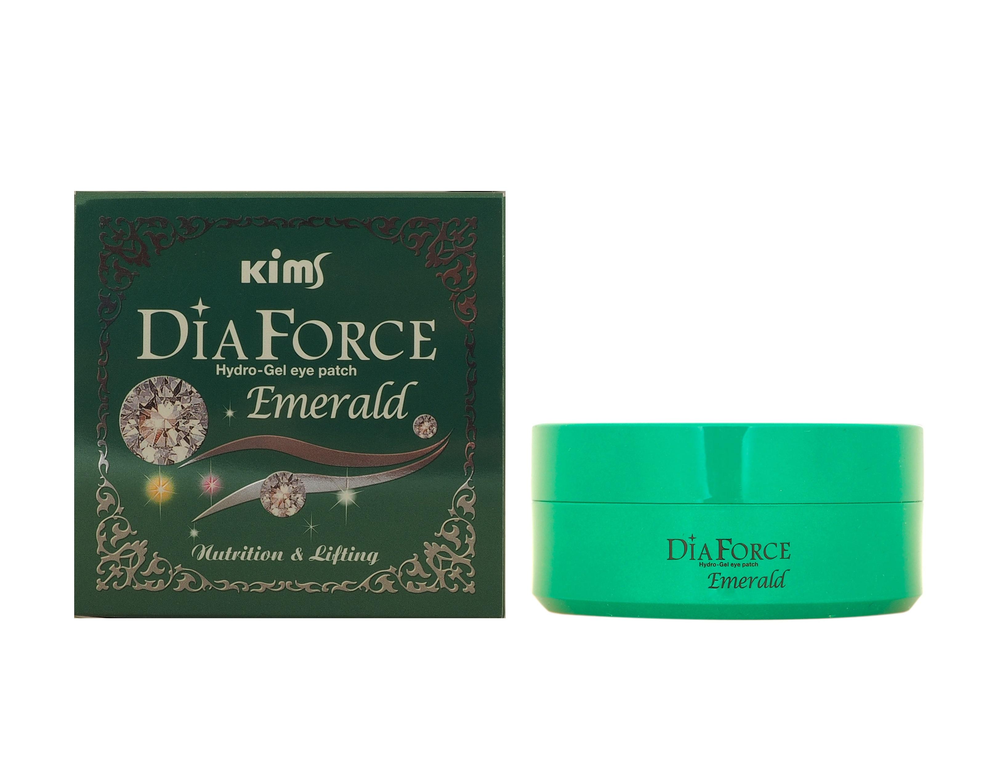KIMS Патчи гидрогелевые Сила Изумруда / Dia Force Emerald Hydro-Gel Eye Patch 60 шт  - Купить