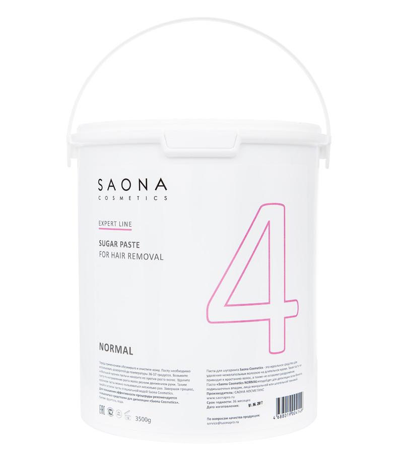 SAONA COSMETICS Паста сахарная нормальная для шугаринга № 4 / NORMAL Expert Line 3500 г - Сахарные пасты