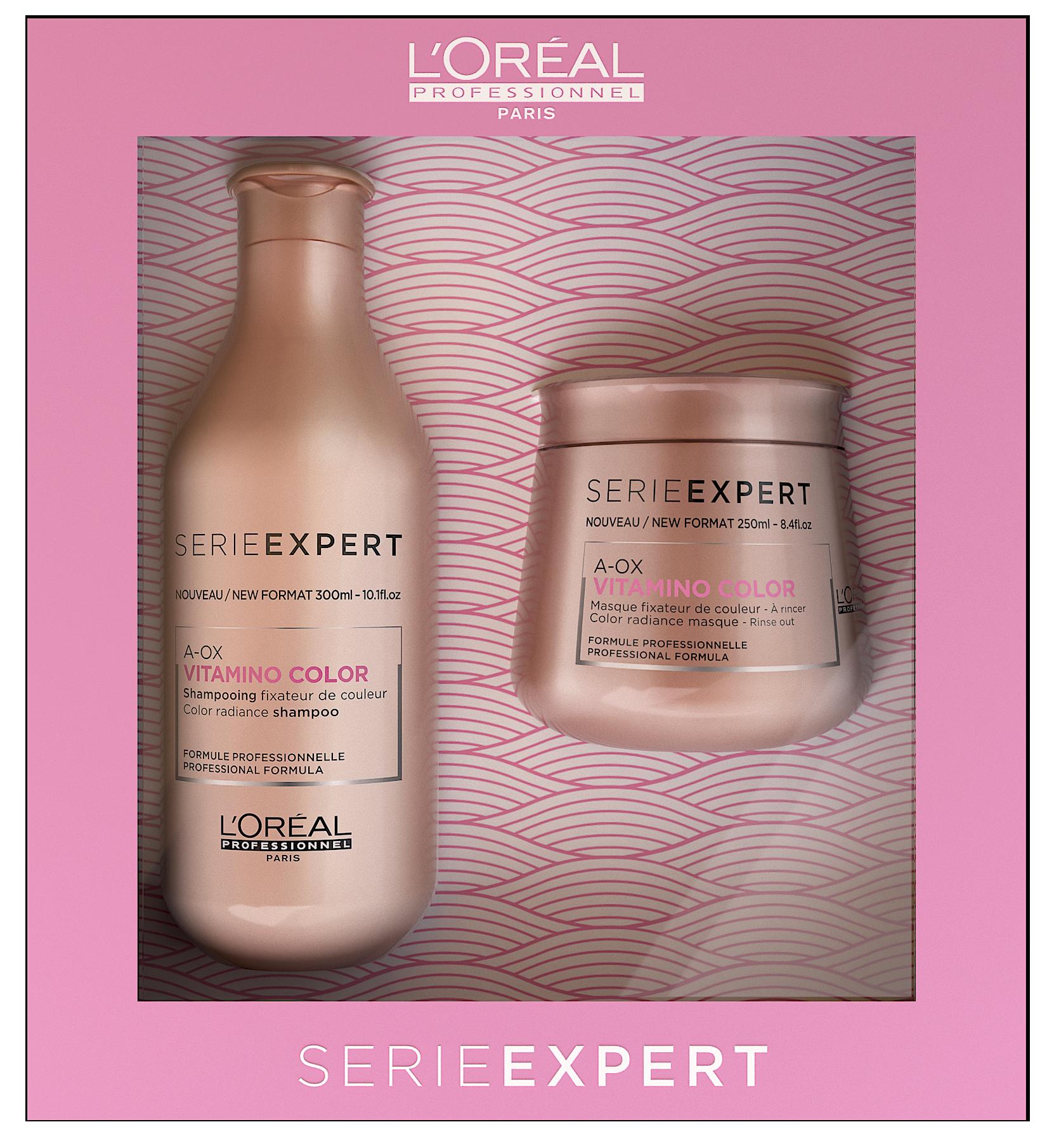LOREAL PROFESSIONNEL Набор для окрашенных волос (шампунь + маска) / ВИТАМИНО КОЛОР (весна 2019)