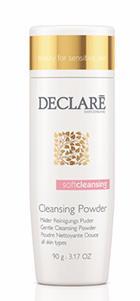 DECLARE Пудра очищающая мягкая / Gentle Cleansing Powder 90грПудры<br>Мягкая очищающая пудра от Declare Gentle Cleansing Powder   уникальное средство, разработанное для чувствительной кожи. Пудра Декларе не содержит мыла и имеет нейтральный рН. Тальк и кремний наделяет ее свойствами эффективного сорбента (удаляет отмершие клетки, избыток кожного сала, патогенные микроорганизмы). После смешивания пудры с небольшим количеством воды, порошок превращается в мягкую пену, которая очень деликатно, но тщательно удаляет макияж, мертвые клетки и загрязнения кожи.&amp;nbsp; Активные ингредиенты: олигосахариды, кокоилглицинат натрия, тальк, мальтотриоза, мальтоза, ксантановая камедь, глюкоза, кремний, отдушка.&amp;nbsp; Способ применения: нанести небольшое количество пудры на ладони и смешать с небольшим количеством воды. Сделать мягкий массаж лица, смыть с помощью ватного тампона. Затем нанести тоник.<br>