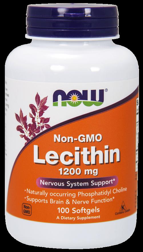 NOW FOODS Лецитин тройная сила, капсулы 1200 мг № 100