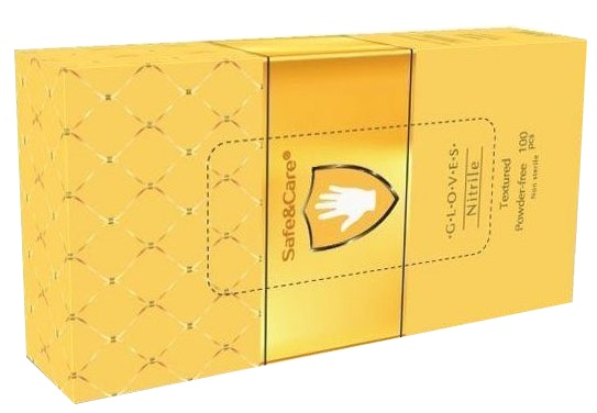 Купить SAFE & CARE Перчатки нитриловые, золотистые, размер М / Safe & Care 100 шт