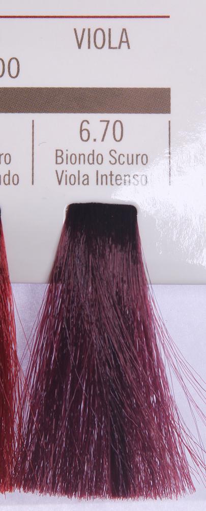 BAREX 6.70 краска для волос / PERMESSE 100млКраски<br>Оттенок: Темный блондин фиолетовый интенсивный. Профессиональная крем-краска Permesse отличается низким содержанием аммиака - от 1 до 1,5%. Обеспечивает блестящий и натуральный косметический цвет, 100% покрытие седых волос, идеальное осветление, стойкость и насыщенность цвета до следующего окрашивания. Комплекс сертифицированных органических пептидов M4, входящих в состав, действует с момента нанесения, увлажняя волосы, придавая им прочность и защиту. Пептиды избирательно оседают в самых поврежденных участках волоса, восстанавливая и защищая их. Масло карите оказывает смягчающее и успокаивающее действие. Комплекс пептидов и масло карите стимулируют проникновение пигментов вглубь структуры волоса, придавая им здоровый вид, блеск и долговечность косметическому цвету. Активные ингредиенты:&amp;nbsp;Сертифицированные органические пептиды М4 - пептиды овса, бразильского ореха, сои и пшеницы, объединенные в полифункциональный комплекс, придающий прочность окрашенным волосам, увлажняющий и защищающий их. Сертифицированное органическое масло карите (масло ши) - богато жирными кислотами, экстрагируется из ореха африканского дерева карите. Оказывает смягчающий и целебный эффект на кожу и волосы, широко применяется в косметической индустрии. Масло карите защищает волосы от неблагоприятного воздействия внешней среды, интенсивно увлажняет кожу и волосы, т.к. обладает высокой степенью абсорбции, не забивает поры. Способ применения:&amp;nbsp;Крем-краска готовится в смеси с Молочком-оксигентом Permesse 10/20/30/40 объемов в соотношении 1:1 (например, 50 мл крем-краски + 50 мл молочка-оксигента). Молочко-оксигент работает в сочетании с крем-краской и гарантирует идеальное проявление краски. Тюбик крем-краски Permesse содержит 100 мл продукта, количество, достаточное для 2 полных нанесений. Всегда надевайте подходящие специальные перчатки перед подготовкой и нанесением краски. Подготавливайте смесь крем-краски и молочка-оксигента 
