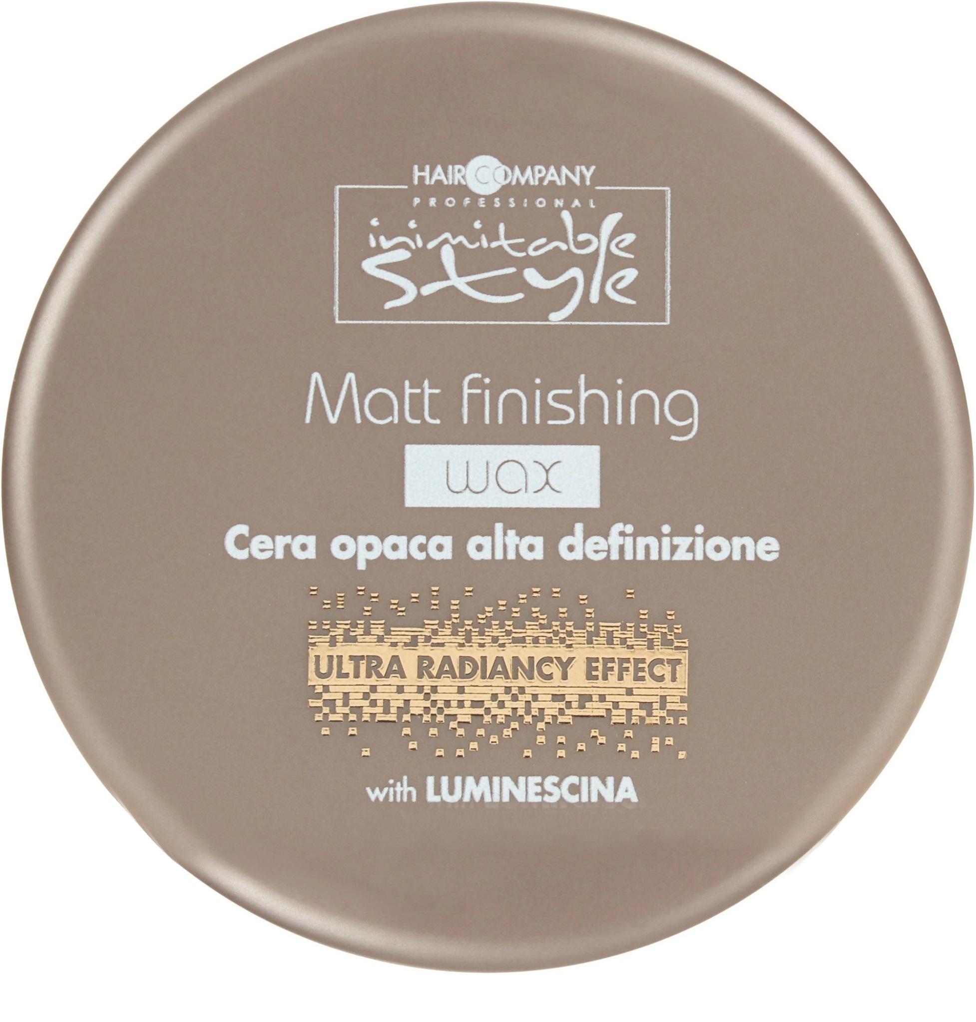 HAIR COMPANY Воск завершающий с матовым эффектом / INIMITABLE STYLE Matt Finishing Wax 100 мл