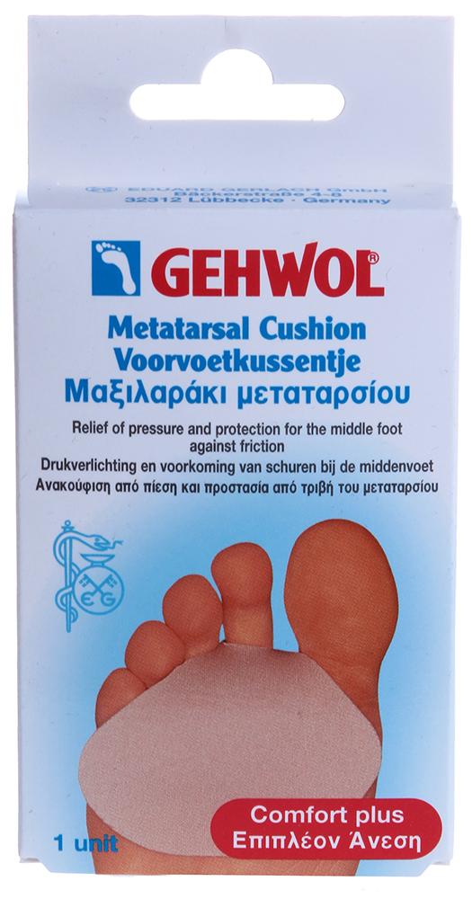 GEHWOL Гель-подушечка под стопу 1штОртопедические приспособления<br>Комфортная двухсторонняя тонкая подушечка- вкладыш. Гель полимер покрыт эластичной тканью для лучшего скольжения в обуви. Защищает среднюю часть стопы от трения (особенно при ходьбе в обуви на высоком каблуке) и образования натоптышей. В составе геля нет силикона, и содержатся медицинские парафиновые и минеральные масла, которые непрерывно смягчают и защищают кожу, эффективно препятствуя образованию участков загрубевшей кожи и натоптышей. Защитные средства из геля моментально принимают нужную физиологическую форму пальцев, а при отсутствии давления также быстро первоначальную форму изделия. &amp;nbsp; &amp;nbsp; Примечание: Гель-полимер не применяют на открытые раны и участки с воспалениями!<br>