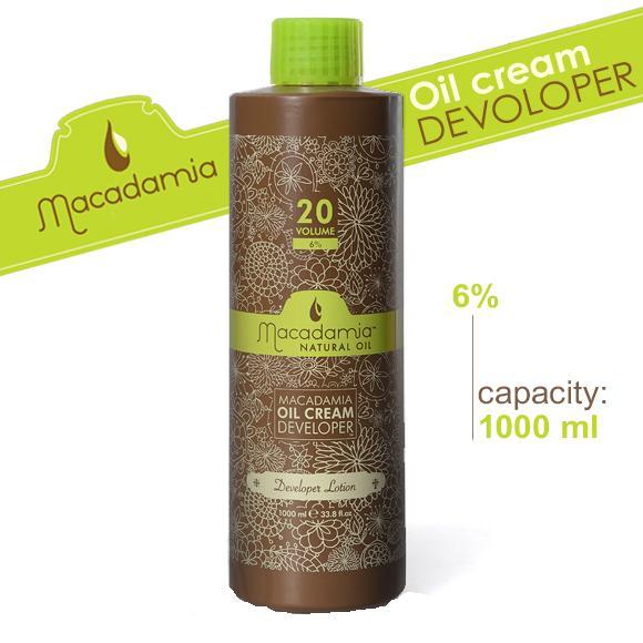 MACADAMIA Natural Oil Окислитель 6% / Developer MACADAMIA COLORS 1000млОкислители<br>Используется для смешивания с красителями Macadamia. Способ применения: смешать с кремом краской Macadamia natural oil<br><br>Содержание кислоты: 6%<br>Типы волос: Для всех типов