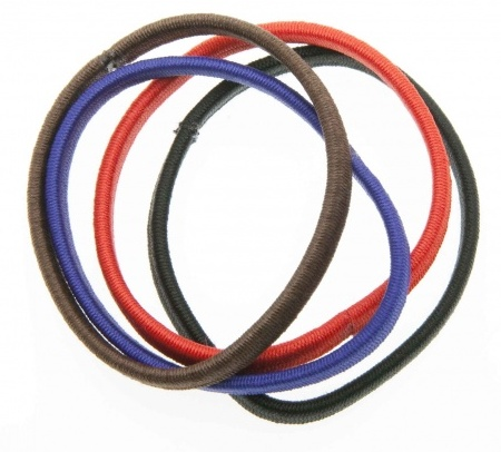 DEWAL BEAUTY Резинки для волос midi плоские, цветные 8 шт