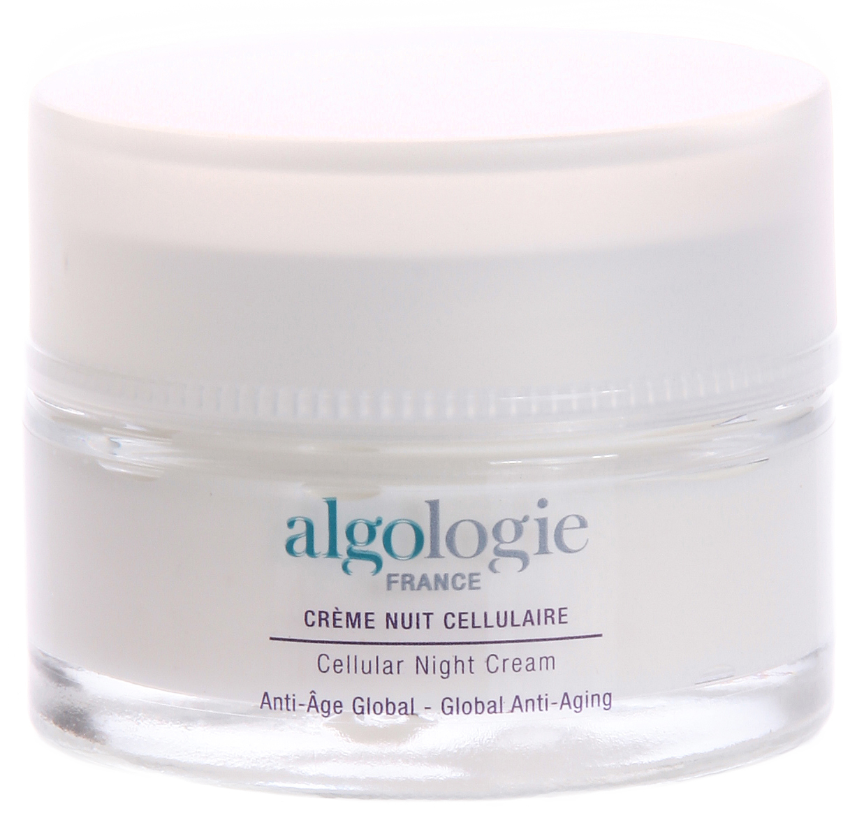 ALGOLOGIE Крем клеточный ночной 50млКремы<br>В состав формулы крема входят 2 мощных активных компонента, которые являются новейшей разработкой в области косметологии и предотвращают увядание кожи. Благодаря своему составу, крем обеспечивает великолепный антивозрастной уход за кожей. Действие: Экстракты ламинарии и морского критмума оказывают взаимоусиливающее действие, стимулируя клеточную активность и вдыхая молодость в кожу. Кожа лица становится более гладкая, упругая, молодая и красивая. Активные компоненты: 100% морские активные компоненты. Экстракт морского критмума (стволовые растительные клетки), экстракт ламинарии (стволовые растительные клетки), экстракт водоросли пальмария пальмата, экстракт пельвеции.<br><br>Вид средства для лица: Антивозрастной<br>Время применения: Ночной