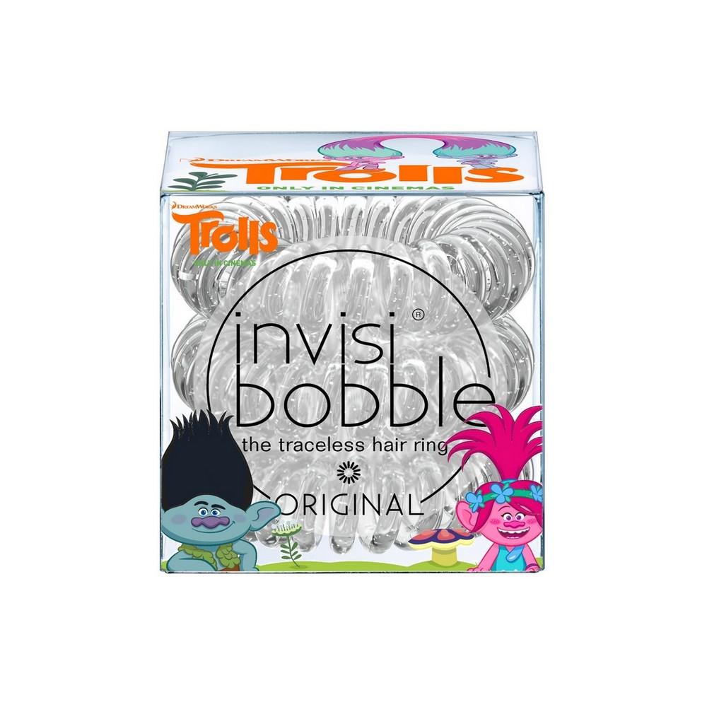 INVISIBOBBLE Резинка-браслет для волос Invisibobble ORIGINAL TrollsРезинки<br>Резинка-браслет Invisibobble подходит для повседневного использования, для занятий плаванием, бегом и другими видами спорта. Кроме того, ее можно носить как стильный браслет. Состав:&amp;nbsp;полиуретан.<br>
