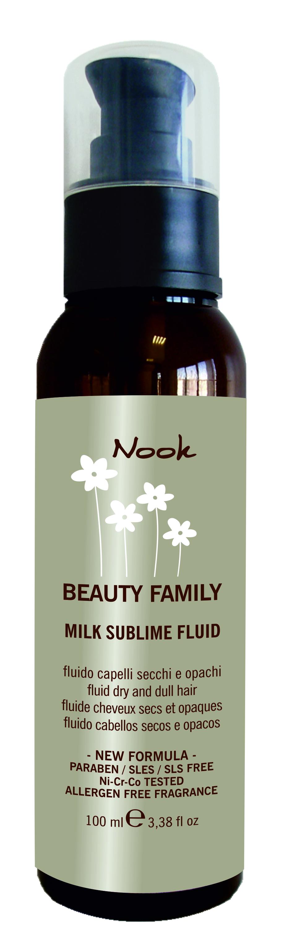 NOOK Флюид для поврежденных волос Ph 7,2 / Milk Sublime Fluid BEAUTY FAMILY 50 мл от Галерея Косметики