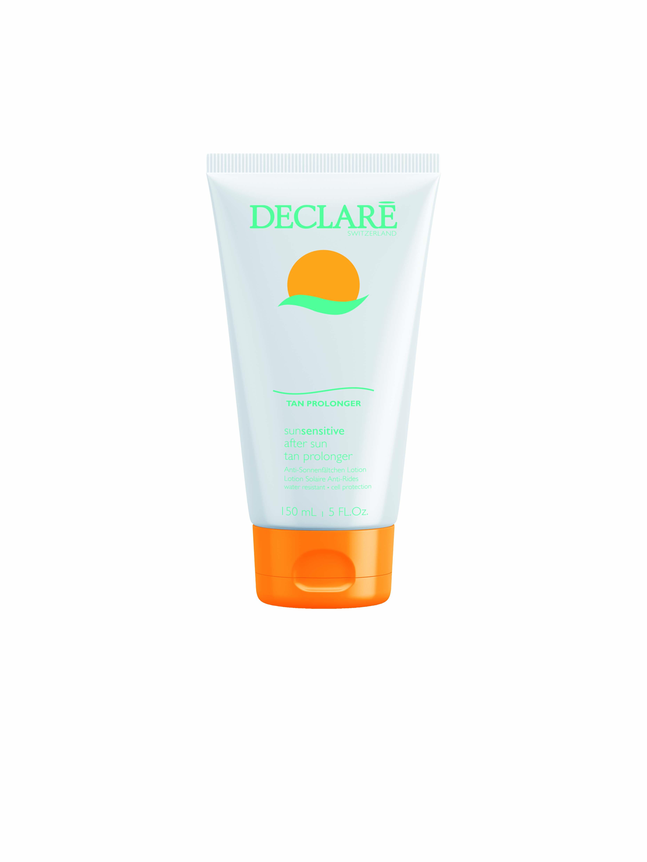 DECLARE Увлажняющий лосьон, сохраняющий и пролонгирующий загар / After Sun Tan ProlongerЛосьоны<br>Средство предназначено для ухода за кожей после пребывания на солнце. Лосьон насыщает кожу влагой, успокаивает и защищает от негативного воздействия свободных радикалов, предотвращает преждевременное шелушение кожи и поддерживает красивый стойкий загар. После использования средства кожа становится мягкой и шелковистой. Активные ингредиенты: SRC-Complex , Phytosteryl РАПСА, масло семян люффы цилиндрической, эктракт алоэ, бисаболол.<br><br>Вид средства для тела: Увлажняющий