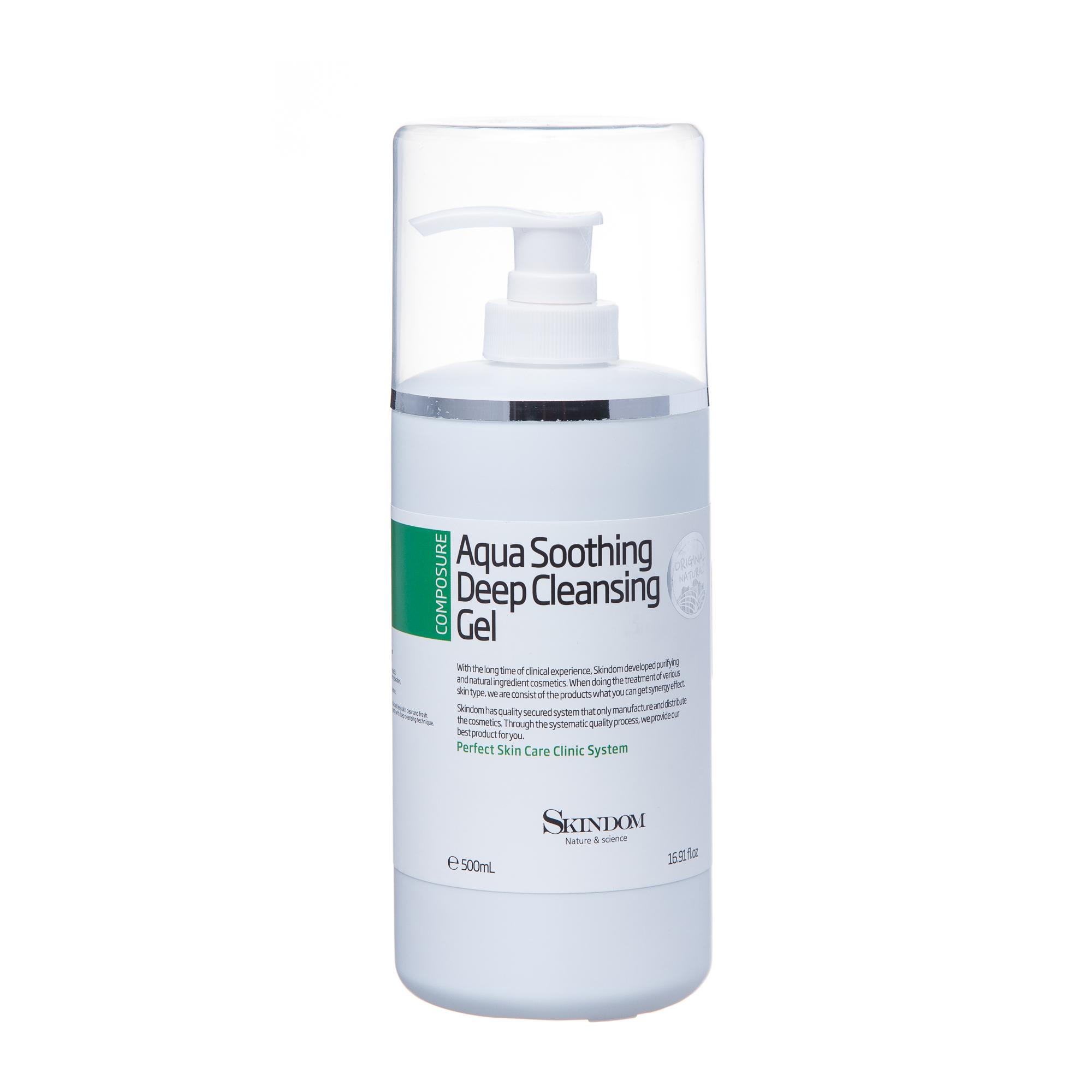 Купить SKINDOM Гель водный смягчающий глубоко очищающий для лица / AQUA SOOTHING DEEP CLEANSING GEL 500 мл