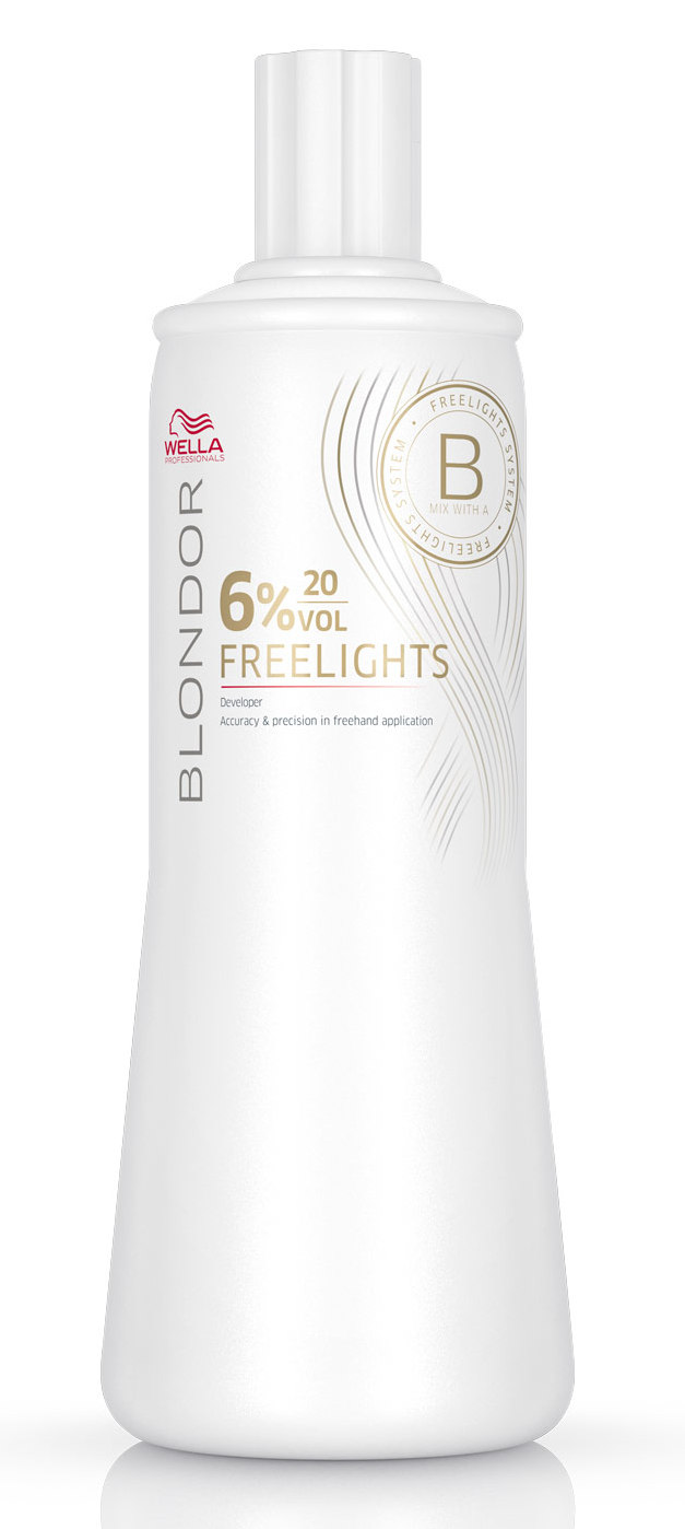 WELLA Окислитель / Blondor Freelights 6% 1000 мл краска для волос wella professionals blondor freelights white lightening powder 400 гр