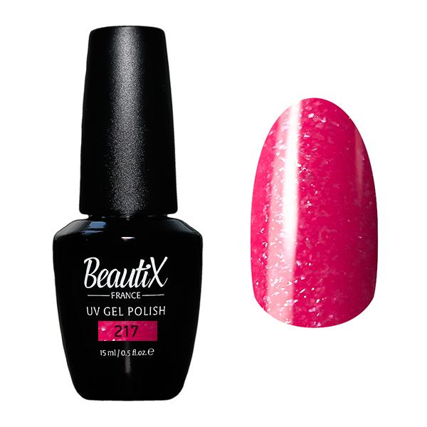 Купить BEAUTIX 217 гель-лак для ногтей 15 мл, Розовые