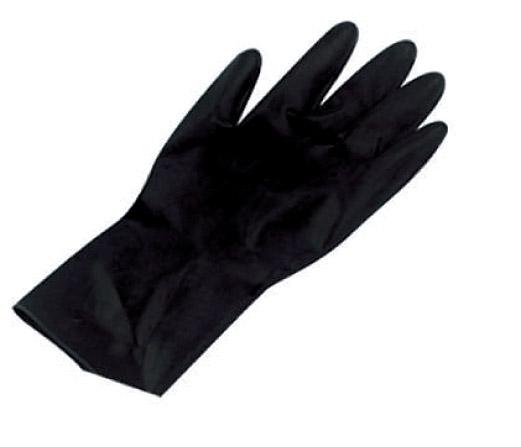 SIBEL Перчатки одноразовые латекс, черные M 100 шт/уп