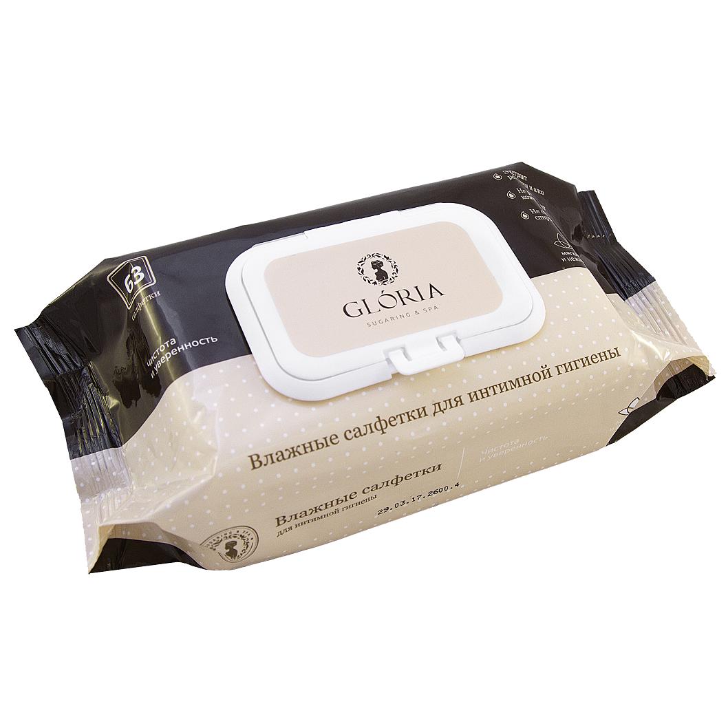 GLORIA Влажные салфетки для интимной гигиены / GLORIA HOME SPA 63 шт/уп