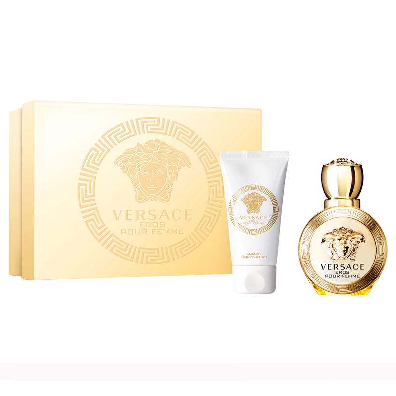 Купить VERSACE Набор парфюмерный женский Versace Eros Pour Femme (туалетная вода спрей 30 мл, роскошный лосьон для тела в тубе 50 мл)