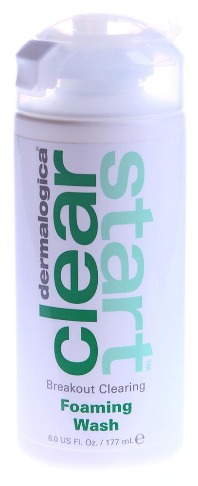 DERMALOGICA Гель очищающий для умывания / Breakout Clearing Foaming Wash CLEAR START 177млГели<br>Этот пенящийся гель очищает кожу от мертвых клеток, загрязнений и избытка себума, которые и приводят к воспалениям. Ключевой ингредиент, салициловая кислота, глубоко очищает закупорки в порах, удаляет с поверхности мертвые клетки и излишки себума, уничтожая существующие и предотвращая появление будущих прыщей. 8 растительных компонентов, включая экстракты листьев Оливы, коры Африканского белого дерева и Таволги, контролируют выработку себума и уменьшают воспаления. Экстракт корки Апельсина оживляет, заряжает энергией и освежает кожу. Активные ингредиенты: салициловая кислота, экстракты листьев оливы, коры африканского белого дерева и таволги, экстракт корки апельсина. Способ применения: вспенить продукт во влажных ладонях и распределить по коже лица, шеи и всех областей, где есть воспалительные элементы. Смывать теплой водой. Избегать попадания на область глаз. Утром и вечером, каждый день.<br><br>Вид средства для лица: Очищающий<br>Возраст применения: До 25<br>Назначение: Прыщи