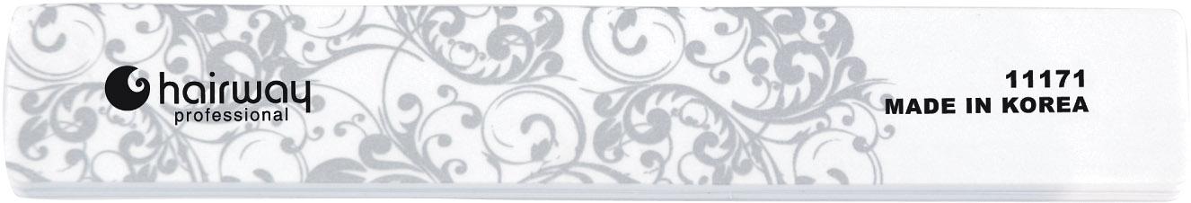 HAIRWAY Пилка д/блеска с орнаментом широкаяПилки для ногтей<br>Пилки для ногтей Hairway выполнены из высококачественного износостойкого материала, различной степени жесткости. Позволяют придать форму и блеск натуральным и искусственным ногтям. Пилки удобны в работе, имеют большой срок службы и легко дезинфицируются.<br>