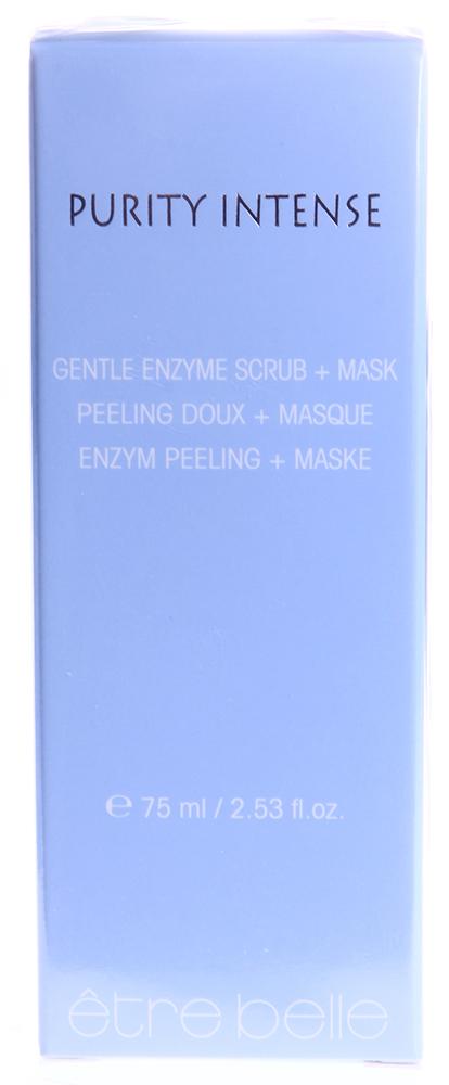 ETRE BELLE Маска-скраб энзимная для комб. склонной к воспалению кожи/ Enzyme Scrub+Mask Purity Intense 75млСкрабы<br>Энзимный пилинг с гладкими сферическими полимерными частицами для глубокого очищения воспалённой кожи. Культура лактобактерий и папаин предотвращают гиперкератоз кожи. Салициловая кислота и соли цинка оказывают выраженный противовоспалительный эффект, а также дренируют сальные железы. Уникальная культура бактерий рода Leuconostoc предотвращает развитие патогенной микрофлоры на поверхности кожи, а также повышает местный иммунитет. Активные ингредиенты: лактат цинка, салициловая кислота, масло виноградной косточки, культура лактобактерий на экстракте папаи, папаин, культура Leuconostoc на экстракте редиса. Способ применения: 1. Нанести 3мл продукта на очищенную кожу, исключая область вокруг глаз, накрыть кожу пленкой или напрвить струю теплого пара. Экспозиция 5-10 минут, после чего смыть остатки продукта с кожи. 2. Нанести 2мл продукта на очищенную кожу, исключая область вокруг глаз, массировать легкими движениями в течении нескольких минут. После чего смыть остатки продукта с кожи.<br><br>Тип: Маска-скраб