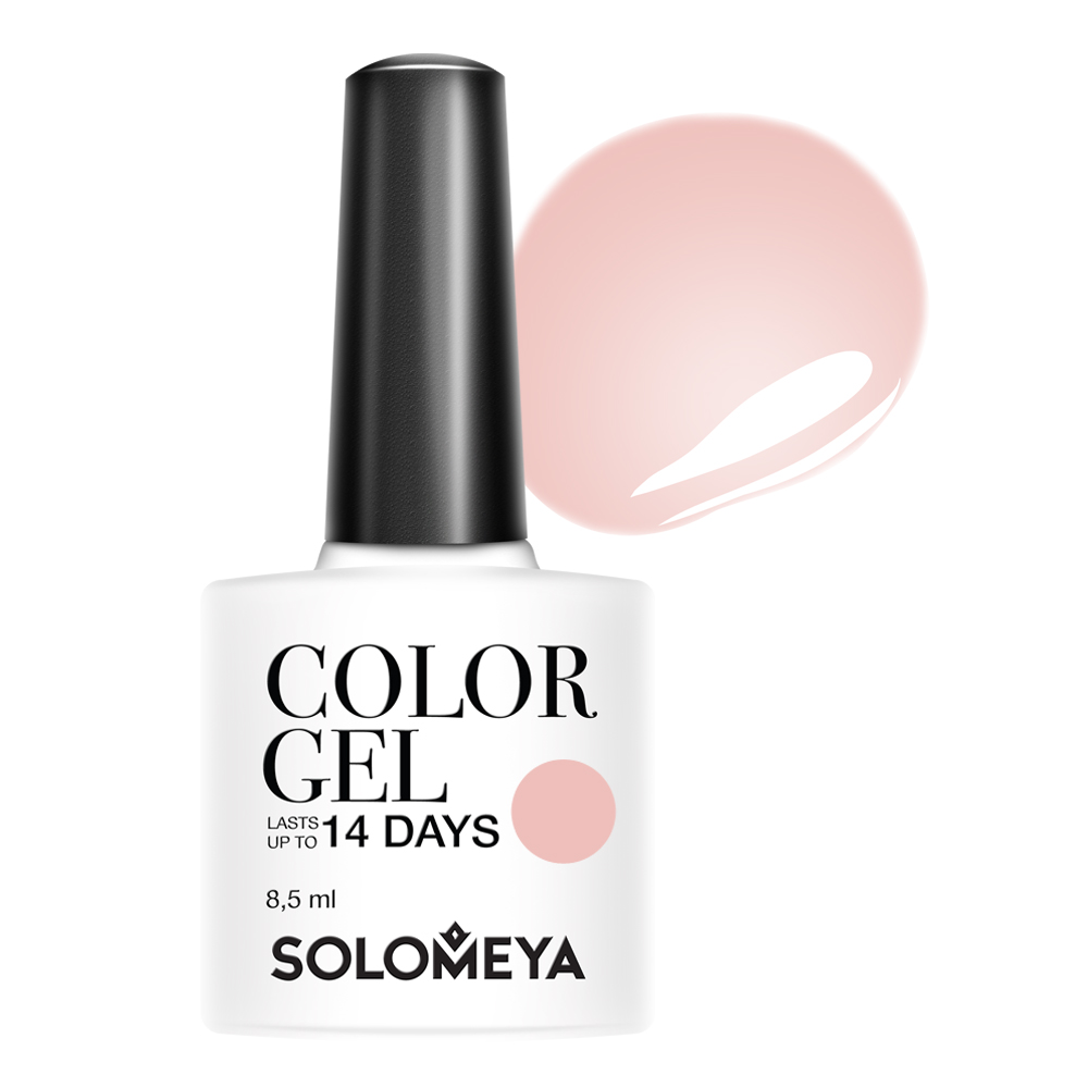 Купить SOLOMEYA Гель-лак для ногтей 115 Нюдовый шик / Color Gel Сhic nude 8, 5 мл, Розовые