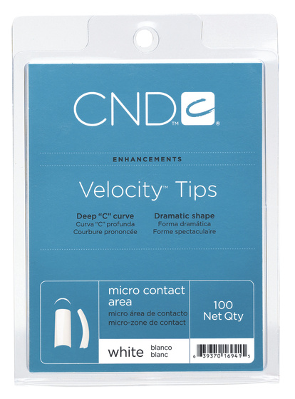 CND Типсы / Natural Velocity 100 шт cnd типсы cnd clear eclipse 16818 100 шт