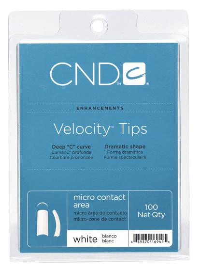CND Типсы / Natural Velocity 100штНаращивание<br>Типсы профессионального качества выполнены из первородного ABS пластика. Обладают различными структурными зонами для всех типов ногтей. Velocity&amp;reg; и Radical French&amp;trade; - cамые быстрые типсы с наибольшим изгибом. Позволяют придать натуральному ногтю желаемую длину. Восстанавливают форму ногтей с нарушенной структурой. Обладают повышенной прочностью и пластичностью Увеличенный С-изгиб и арка Микроконтактная зона и наиболее тонкий пластик Рекомендации: Подбирайте типсы точно по размеру натурального ногтя. Всегда используйте острое лезвие при срезе. Никогда не наносите растворители и кислотные праймеры на поверхность типса. Способ применения: Нанесите выбранный адгезив от Creative Nail Design на контактную зону типса и на свободный край натурального ногтя. Приклейте типс. Срежьте лишнюю длину, обработайте контактную зону и нанесите выбранный материал.<br>