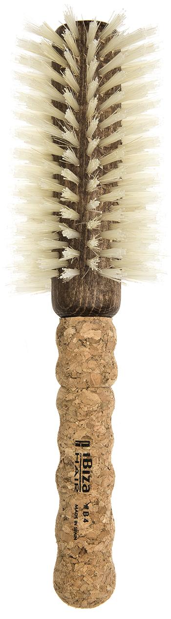 IBIZA HAIR Щетка круглая для укладки волос, осветленная щетина, диаметр 65 мм (пробка) - Брашинги