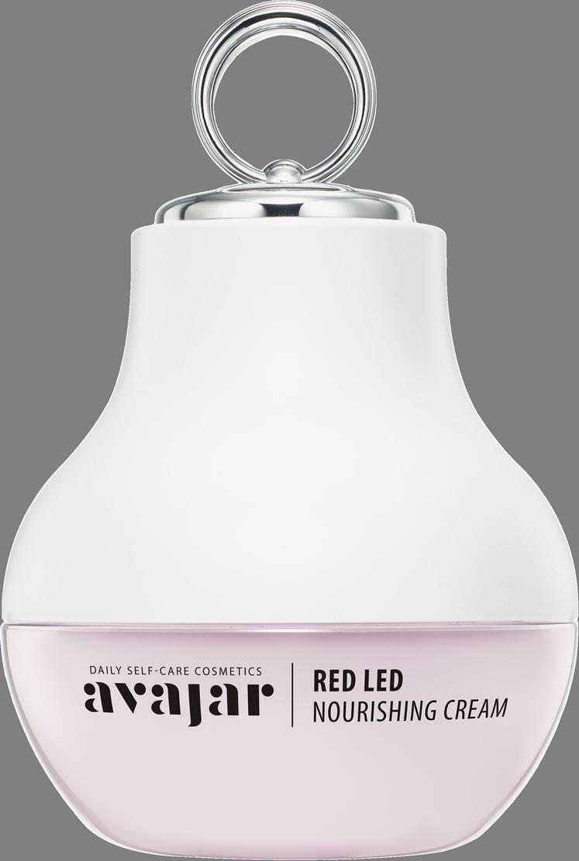 AVAJAR Крем питательный для лица, с аппликатором / Red LED Nourishing Cream (Special PKG) 50 мл