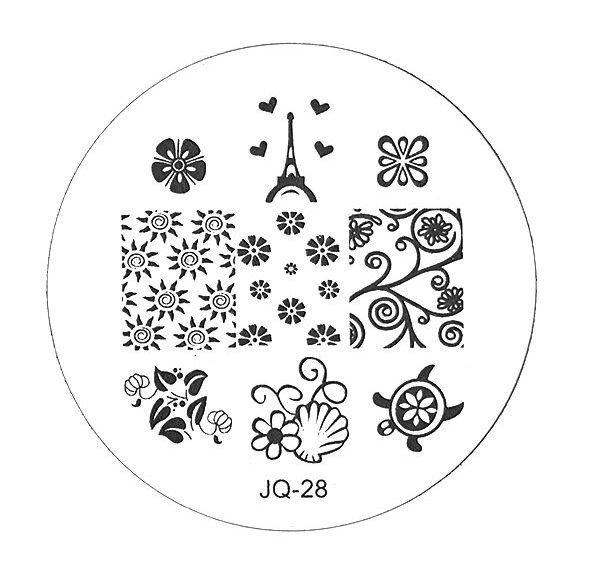 TNL PROFESSIONAL Трафарет металлический малый для стемпинга Эйфелева башня (в индивидуальной упаковке)