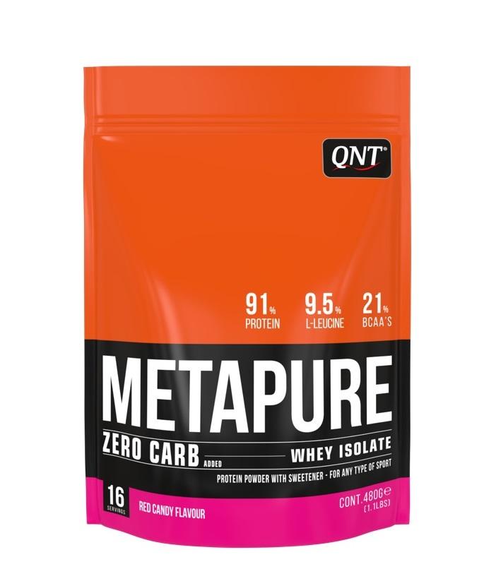 Купить QNT Добавка биологически активная к пище Метапьюр зеро карб, красная конфета / ZERO CARB METAPURE Red Candy 480 г