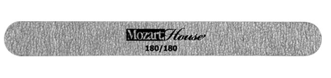 MOZART HOUSE Пилка на деревянной основе зебра прямая 180/180 kinetics пилка для натуральных ногтей 180 180 white turtle