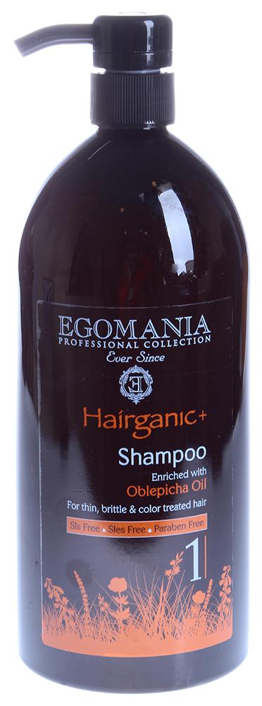 EGOMANIA Шампунь с маслом облепихи для тонких, ломких и окрашенных волос / HAIRGANIC 1000млШампуни<br>Шампунь для ухода за тонкими, окрашенными волосами, обогащен минералами Мертвого моря и маслом облепихи. Действие: Нежно очищает волосы, не будет раздражать даже самую чувствительную кожу головы. В составе шампуня есть масло сладкого миндаля, экстракт граната и цветов ромашки. Эти ингредиенты восстанавливают и питают волосы, делая их более мягкими и послушными. Активные ингредиенты: масло сладкого миндаля, экстракт граната и цветов ромашки, а также масло облепихи и минералы Мертвого моря. Не содержит SLS, SLES и парабенов.<br><br>Тип кожи головы: Чувствительная
