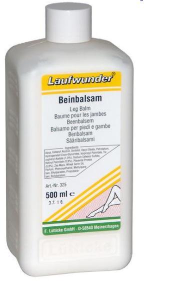 LAUFWUNDER Бальзам с плацентой и витаминами А и Е 500млБальзамы<br>Создан на основе натуральных активных ингредиентов. Бальзам способствует восстановлению эластичности кожных покровов, снимает чувство усталости и отечности. Состав. Экстракт плаценты активизирует обмен веществ и делает кожу эластичной. Витамины А и Е защищают от вредного воздействия окружающей среды, стимулируют регенерацию кожи.<br><br>Объем: 500