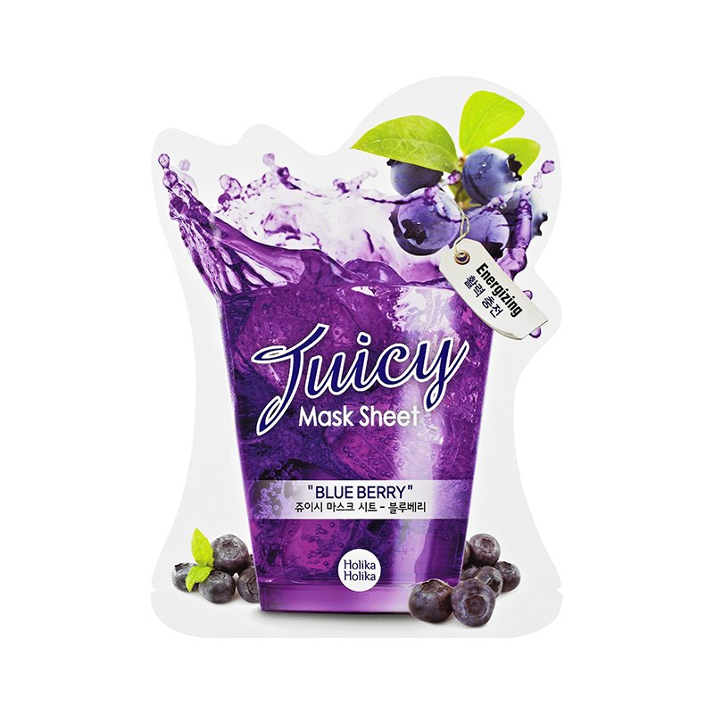HOLIKA HOLIKA Маска тканевая для лица (голубика) Джуси Маск / Juicy Mask Sheet Blue Berry 20мл holika holika маска тканевая для лица сок голубики blue berry juicy mask sheet 20 мл маска тканевая для лица сок голубики blue berry juicy mask sheet 20 мл 20 мл