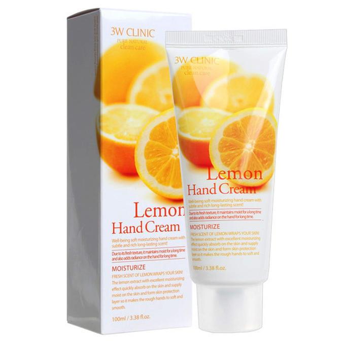 Купить 3W CLINIC Крем для рук увлажняющий с лимоном 100 мл