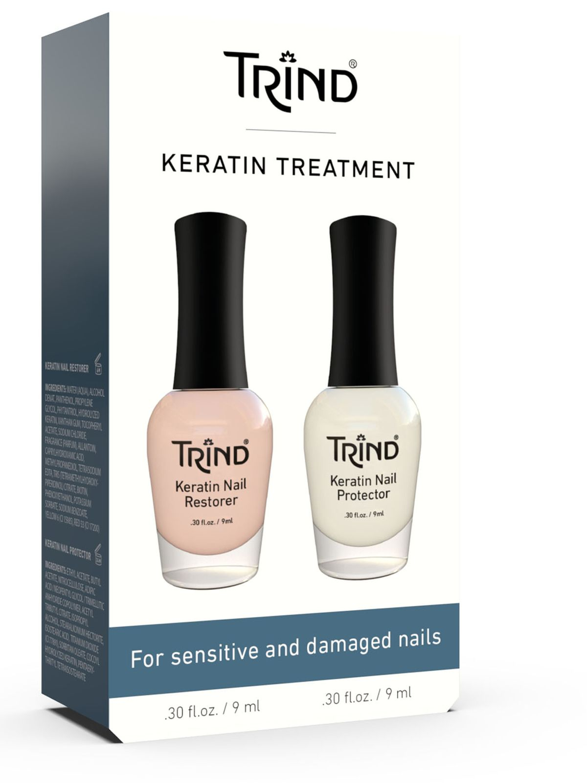 TRIND Набор для ногтей (Keratin Restorer + Keratin Protecor) / Keratin Treatment Set