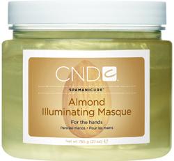 CND Маска сверкающая / Illuminating Masque ALMOND SPA MANICURE 765грМаски<br>Средство для глубокого кондиционирования кожи и придания ей здорового блеска. Масло сладкого миндаля, масло жожоба и витамин Е производят глубокое увлажнение кожи. Косметические минеральные масла, входящие в ее состав, защищают кожу от потери влаги и способствуют глубокому проникновению других веществ. Активные компоненты: Масло сладкого миндаля; Масло жожоба; Витамин Е. Способ применения: Как самостоятельное средство, либо в процедуре миндальный спа маникюр.<br><br>Объем: 765
