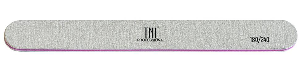 Купить TNL PROFESSIONAL Пилка узкая высококачественная для ногтей 180/240, серая (в индивидуальной упаковке)