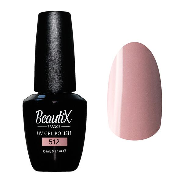 BEAUTIX 512 гель-лак для ногтей 15 мл, Розовые  - Купить