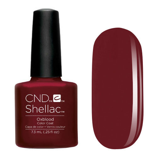 CND 91250 покрытие гелевое Oxblood / SHELLAC 7,3мл cnd 083 покрытие гелевое bare chemise shellac 7 3мл