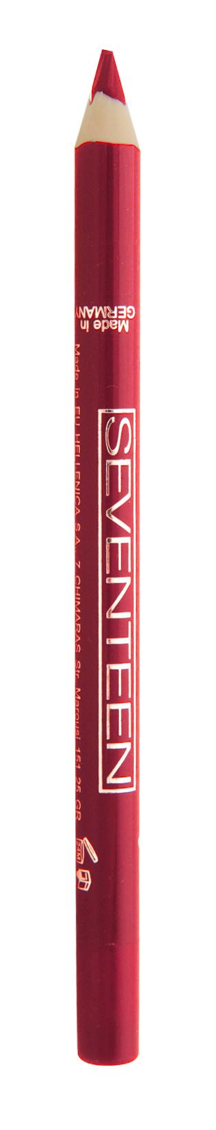 SEVENTEEN Карандаш водостойкий с витамином Е для губ, 14 насыщенный красный / Super Smooth W/P Lip Liner 1,2 г