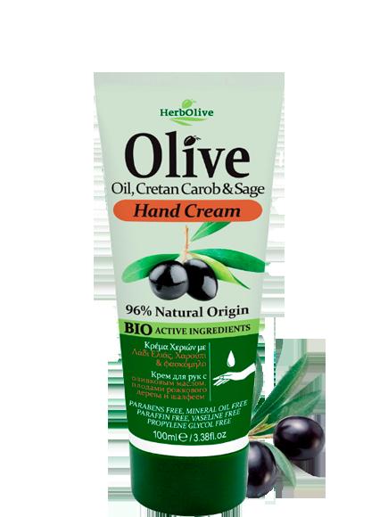 MADIS Крем для рук витаминный с шалфеем и плодами рожкового дерева / HerbOlive 100 мл