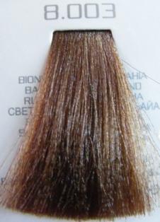 HAIR COMPANY 8.003 краска для волос / HAIR LIGHT CREMA COLORANTE 100млКраски<br>Профессиональная стойкая крем-краска для волос. Результат последних разработок ведущих специалистов и продукт высоких технологий. Профессиональная стойкая крем-краска Hair Light Crema Colorante богата натуральными ингредиентами и, в особенности, эксклюзивным мультивитаминным восстанавливающим комплексом. Новейший химический состав (с минимальным содержанием аммиака) гарантирует максимально бережное отношение к структуре волос. Применение исключительно активных ингредиентов и пигментов высочайшего качества гарантирует получение однородного и стойкого цвета, интенсивных и блестящих, искрящихся оттенков, кроме того, дает полное покрытие (прокрашивание) седых волос. Тона профессиональной стойкой крем-краски Hair Light Crema Colorante дают возможность парикмахеру гибко реагировать на любые требования, предъявляемые к окраске волос. Наличие 5 микстонов и нейтрального (бесцветного) микстона, позволяет достигать результатов окраски самого высокого уровня. Применение: Смешать Hair Light Crema Colorante с Hair Light Emulsione Ossidante в пропорции 1:1,5. Время воздействия 30-45 мин.<br><br>Объем: 100<br>Вид средства для волос: Стойкая<br>Класс косметики: Профессиональная