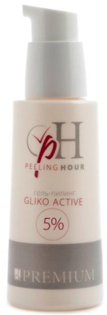 PREMIUM Гель-пилинг Glico Active 5% / Peeling Hour 200млПилинги<br>Гликолевая кислота в концентрации 5% предназначается для проведения процедур химического пилинга с целью коррекции себореи, акне, постакне, увядания кожи, гиперпигментаций. Активные ингредиенты (состав): Aqua/Water, Glycolic Acid, Hydroxyethylcellulose, PEG-40 Hydrogenated Castor Oil, Perfume, Disodium EDTA, Methylchloroisothiazolinone, Methylisothiazolinone. Способ применения: нанести на очищенную кожу и оставить до появления сосудистой реакции, затем нейтрализовать и смыть водой. Гель-пилинг Gliko Active 5% может применяться в целях диагностики нарушения состояния сосудов, для этапа провокации в программе тренинга сосудов, для подготовки кожи к проведению чистки. Противопоказания: болезни кожи в период рецидива (герпес), свежие травматические состояния кожи (после глубинного пилинга, оперативного вмешательства и др.), эритроз и купероз 3-4 стадии), ОРВИ, беременность, лактация (для пилингов высокой концентрации), прием Роаккутана, относительно противопоказан при множественных невусах и островоспалительном течении Acne Vulgaris.<br><br>Тип: Гель-пилинг<br>Объем: 200<br>Назначение: Акне, постакне