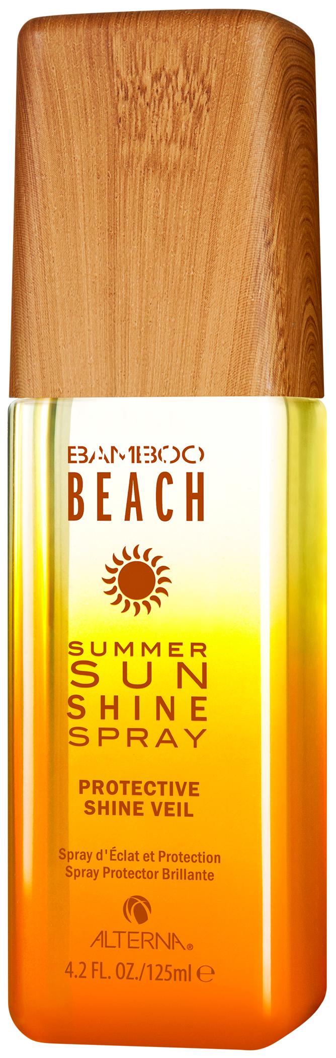 ALTERNA Спрей для блеска / Bamboo Beach Summer Sun Shine Spray 125млСпреи<br>Summer Sun Shine Spray Спрей для блеска: лёгкий спрей, который мгновенно наводит лоск на ваши волосы, придаёт им блестящее сияние и защищает от условий окружающей среды, оказывающих негативное воздействие на волосы в течение лета. Способ применения: распылите равномерно на сухие волосы после укладки.<br><br>Типы волос: Для всех типов