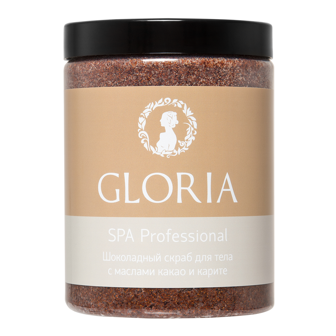 GLORIA Скраб для тела шоколадный с маслами какао и каритэ / SPA 1000 мл кремы mastic spa крем для тела с маслом какао и миндалем